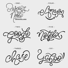 Which is your favorite?  1 - Barnes & Noble 2 - Google 3 - Chase 4 - Amazon 5 - Netflix 6 - Yahoo! . . All of these logos started as a sketch. I used Illustrator refine the line structure vary the line thickness and create negative shadows. Photoshop was used for the distressed look in and for selectively adding color to each #handdrawn logo. . . Background images are from @unsplash. . . #strengthinletters #logo #logodesign #desinspiration #logoredesign #branding #brandidentity…