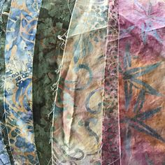 New product coming soon!  These beautiful batiks will become a fantastic and functional purse....
