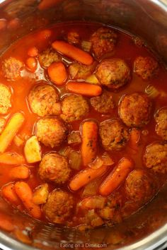 Instant Pot Meatball Stew Recipe is simple and delicious. Ready in just minutes,Meatball Stew Instant Pot Recipe is the perfect weeknight dinner idea. #meatballstew #easymeatballstew #easystewrecipe #instantpotstew #instantpotdinner #easyinstantpotrecipe #easyinstantpotstew #stewrecipe