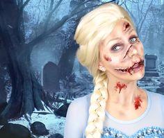 9 Best Zombie Elsa Images Zombie Elsa Halloween Makeup Disney Art