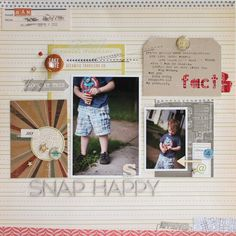 snap happy // 4th of july by lisa truesdell #fourthofjuly #scrapbooking