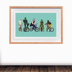 'Anti-superheroes' Turquoise. viciouscircles.co.uk