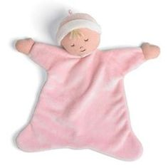 Baby's Rosey Cheek Blankie Doll in PInk