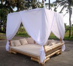 Bamboo Wood Gazebo - picture only. Hmmm maybe it can be replaced with a cheaper material such as pvc - picture only. Hmmm maybe it can be replaced with a cheaper material such as pvc pipe? Large Gazebo, Diy Gazebo, Hot Tub Gazebo, Gazebo Ideas, Outdoor Daybed, Outdoor Lounge, Outdoor Decor, Pergola With Roof, Pergola Plans