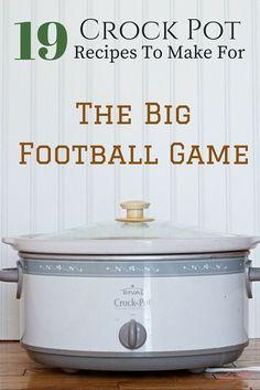 19 Crock Pot Recipes So You Can Enjoy The Big Football Game