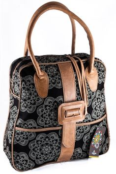 Mongoose Bloom Bag - Shop online at www.GoodiesHub.com Mongoose, Leather Handle, Shopping Bag, Bloom, African, Textiles, Fancy, Fabric, Gifts