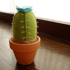 Cactus pincushion - craft idea for older youth or adults.