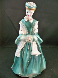 Napco Lady planter/figurine by VintageFromLizanne on Etsy