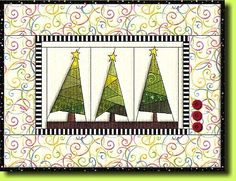 "Free paper piecing Quilt pattern ""Winter Forrest"" by Regina Grewe. Other free pp patterns too."