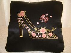 """""""Ravishing Rose"""" comes with designs and instructions so you can create a lovely cushion and covered buttons too! Perfect for yourself, or stitch for a friend as a gift! Embroidery Software, Custom Embroidery, Embroidery Thread, Cross Stitch Embroidery, Machine Embroidery Designs, Butterfly Project, Covered Buttons, Free Design, Pattern Design"""