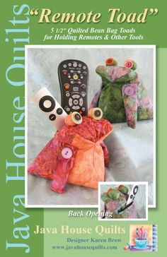 Remote Toad   3D Quilt Patterns   Java House Quilts   www.javahousequilts.com