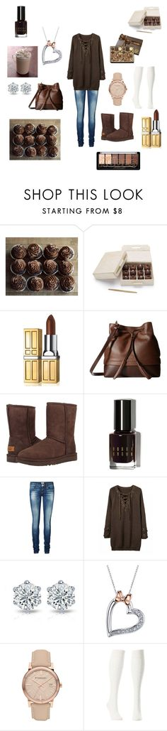 """Death by chocolate"" by jessiestarman ❤ liked on Polyvore featuring Elizabeth Arden, Lodis, UGG Australia, Bobbi Brown Cosmetics, Vero Moda, Disney, Burberry, Charlotte Russe, sweet and brown"