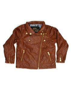 Brown biker jacket - Mini Rodini