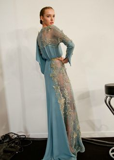 Elie Saab at Couture Fall 2012 - Backstage Runway Photos Elie Saab Gowns, Elie Saab Couture, Beautiful Gowns, Beautiful Outfits, Black Prom Dresses, Dress Black, Designer Gowns, Dream Dress, Dress To Impress