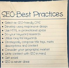 10 SEO Best Practices for Businesses
