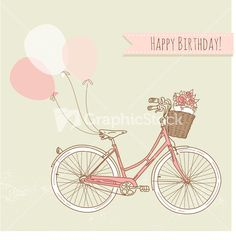 Download Bicycle With Balloons And A Basket Full Of Flowers