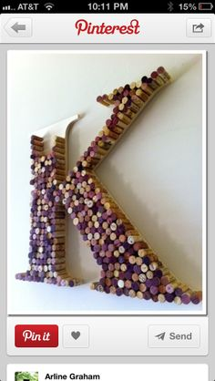 Wine cork idea @Kate Mazur @ Wit + Delight DeLeeuw , this is awesome!!