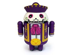 CALAVEROID (This special edition Android mini collectible commemorates the traditional Meixcan Dia de Los Muertos Holiday, designed by artists the Beast Brothers) Toy Art, Vinyl Toys, Vinyl Art, Top Christmas Gifts, Android, Designer Toys, Wood Toys, Art Dolls, Original Artwork