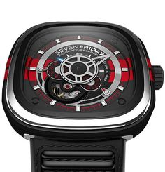 SevenFriday Big Block Limited Edition #bezel-fixed #bracelet-strap-rubber #brand-sevenfriday #case-material-steel #case-width-47-6-x-47mm #delivery-timescale-call-us #dial-colour-black #gender-mens #limited-edition-yes #luxury #movement-automatic #style-dress #subcat-sevenfriday #warranty-sevenfriday-official-2-year-guarantee