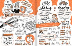 Eva-Lotta Lamm's contribution to Mike Rohde's Sketchnotes Handbook. I like the visual images that accompany and better explain the written text presented. Retrieved from http://www.flickr.com/photos/evalottchen/8375234791/in/faves-rohdesign/
