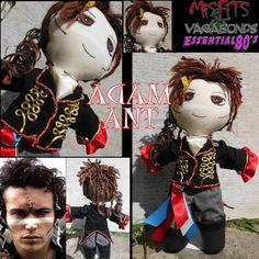 OOAK Art doll Adam Ant Kings Of The Wild by misfitsandvagabonds, $160.00