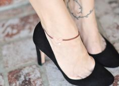 ...love Maegan: DIY Bracelets & Anklets: Rose Gold Chain and Copper Wire Initials and Hearts w/Pearls Fashion. DIY. Lifestyle.