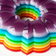 Rainbow jello mold