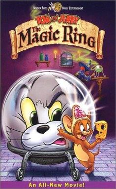 Titled, 'Tom and Jerry The Magic Ring' 2002 VHS In Original Hard Shell Cover. Title: Tom and Jerry The Magic Ring. Case Is Rough Around The Edges. VHS Cassette In Good Condition. Tom Und Jerry Cartoon, Tom And Jerry Movies, Tom E Jerry, Internet Movies, Movies Online, Maile Flanagan, William Hanna, Frank Welker, Skull Art