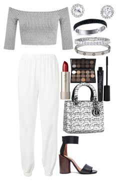 Untitled #4163 by dudas2pinheiro on Polyvore featuring polyvore fashion style Miss Selfridge Lanvin Givenchy Cartier Smashbox Ilia clothing