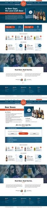 Design a fresh new website for a Craft Beer company! by Dmitrij