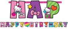 Rainbow Hello Kitty Birthday Banner 10ft - Party City