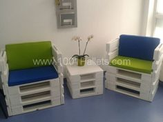 Coffee table and pallets chairs in pallet furniture with Table Pallets Chair