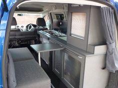 Caddy camper. VW Caddy Maxi Life camper van conversion. Sterling Automotive of Newbury Berkshire Southern England
