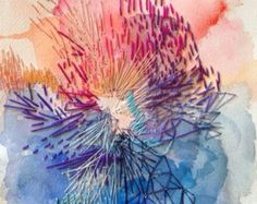 * Letting Go: An Exploration of Abstract Painting Video Content - Jeanne Oliver Geometric Painting, Watercolor Paintings Abstract, Abstract Oil, Abstract Embroidery, Embroidery Art, Fabric Painting, Fabric Art, Painting Art, Painting Lessons