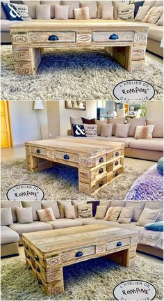 Stylish piece of coffee table with storage drawers part of this image that is coming out as the perfect alternative for your house lounge areas. Classy formation of hues is being used out in this table designing that is so inspiring looking.