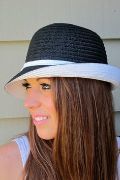 Unbalance Brim Cloche Hat with Bow by EMarieDesignsShop on Etsy, $26.00