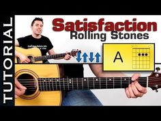 como tocar: Rolling Stones Satisfaction en guitarra tutorial completo super facil! - YouTube
