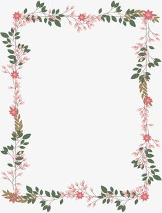Pink romantic vine PNG and Vector Flower Backgrounds, Flower Wallpaper, Wallpaper Backgrounds, Iphone Wallpaper, Page Borders Design, Border Design, Borders For Paper, Borders And Frames, Wedding Card Design
