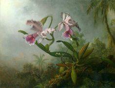 Orchid and Hummingbirds byMartin Johnson Heade(1819-1904)