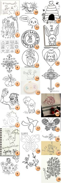 Free hand-embroidery patterns @Craft Gossip: To say I'm behind in posting links to free patterns is an understatement! Enjoy these designs dating back to the first of the year.