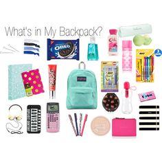 Whats In My Backpack Organization School Goals, School Kit, Life Hacks For School, Middle School Supplies, School Supplies Highschool, Schul Survival Kits, Survival Prepping, What's In My Backpack, School Suplies