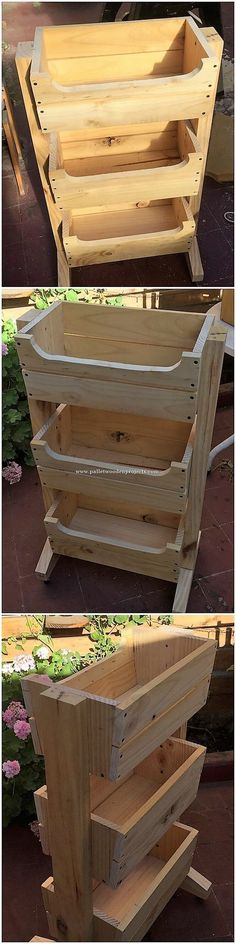Brilliant DIY Wood Pallet Ideas You Should Try Majestic masterpiece design of the wood pallet fruits Scrap Wood Projects, Pallet Projects, Woodworking Projects, Pallet Ideas, Herb Garden Pallet, Pallets Garden, Wood Pallet Furniture, Wood Pallets, Pallet Wood