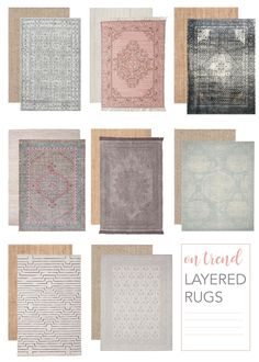 Tips on how to layer a statement rug over a natural fiber one for a layered look