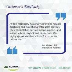 Our Customer's feedback  #alborjmachineryllc #CustomerSupport #professional #sewing #industrial #sharjah #Dubai #UAE