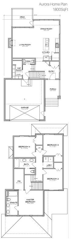 Sq Ft Floor Plan Two Stories Architecture And House Plans