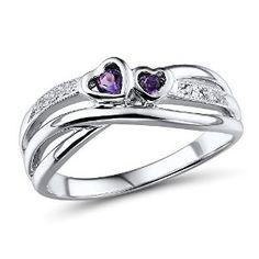 Amethyst Heart Ring in Sterling Silver $65