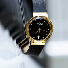 Skagen Leonora Leather Watch
