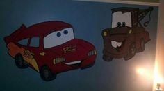 Murale Flash McQueen et Mater Bart Simpson, Mcqueen, Creations, Fictional Characters, Small Boy, Bedroom