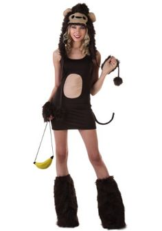 Sexy Monkey Costume (Small (4-6))  - Click image twice for more info - See a larger selection  of women's animal costume at http://costumeriver.com/product-category/womens-animal-costumes/ -  holiday costume , event costume , halloween costume, cosplay costume, classic costumes, scary costume,animal costumes, classic costumes, clothing