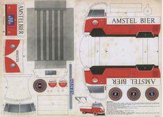 Vintage Card Model VW T1 Amstel